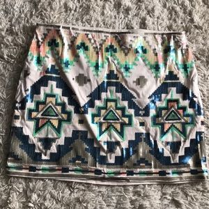 Muilicolored sequin skirt